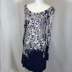 GUC French Connection Navy and Cream Dress size 6